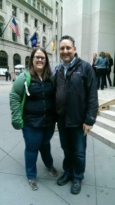 Production Manager Andrew Saxe & Me, NYC for NYCC 2014