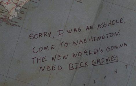 Abraham's love letter to Rick. [AMC]