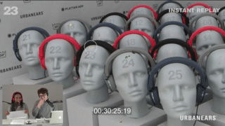[Source: Urbanears] Honestly...these mannequin heads look a little creepy.