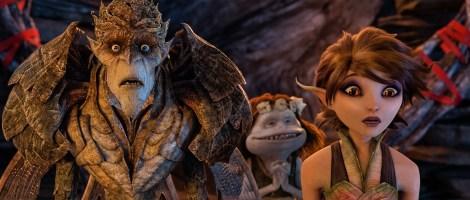 First look at 'Strange Magic': The Bog King (Alan Cumming), Griselda (Maya Rudolph), and Marianne (Evan Rachel Wood)