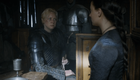 This is now the second Stark to refuse Brienne's aid [HBO]