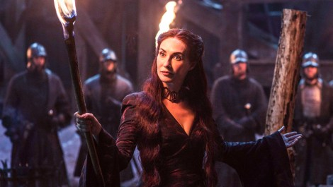 She burns someone at the stake in the first episode I honestly don't get her or Stannis [HBO/ Found through Forbes]