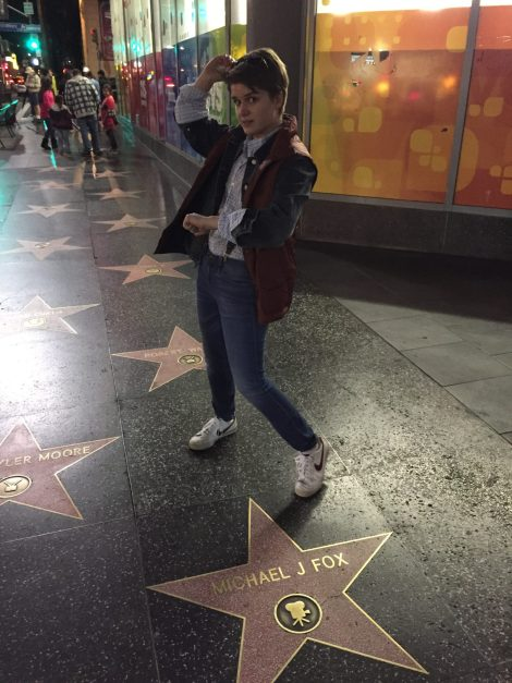 I chose to dress up as Marty McFly and had some memorable interactions with tourists and fans of Back to the Future.