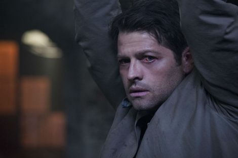 """Cas will find it hard to shake Rowena's curse in season 11's """"Form and Void"""" [Source: Carole Segal/The CW]"""
