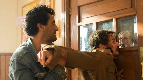 Cliff Curtis as Travis Manawa, Kim Dickens as Madison Clark, Kelly Blatz as Brandon- Fear the Walking Dead _ Season 2, Episode 14 - Photo Credit: Peter Iovino/AMC