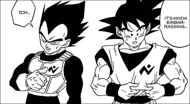 Goku e Vegeta con i nuovi abiti