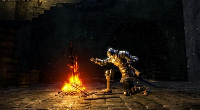 Dark Souls Trilogy collector edition cavaliere falò figure