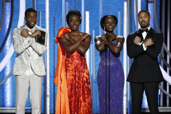 Black Panther cast palco Golden Globe