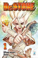 dr stone anime character design poster
