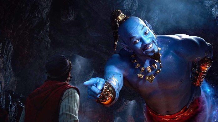 Will Smith interpreta il Genio in Aladdin