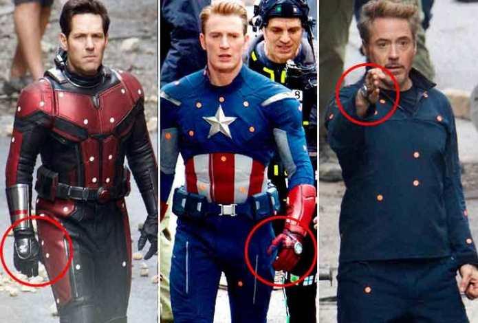 Scott Lang (Ant-Man), Steve Rogers (Captain America) e Tony Stark (Iron Man) - Marvel