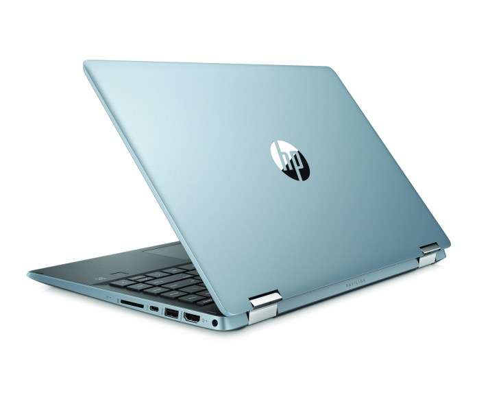HP Pavilion x360 14 CloudBlue RearLeft