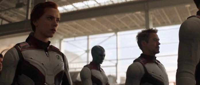 Nuovi Costumi Avengers: Endgame - Vedova Nera, Nebula e Tony Stark