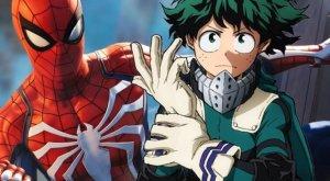 My Hero Academia incontra Spider-verse, All Might è Spider-Man
