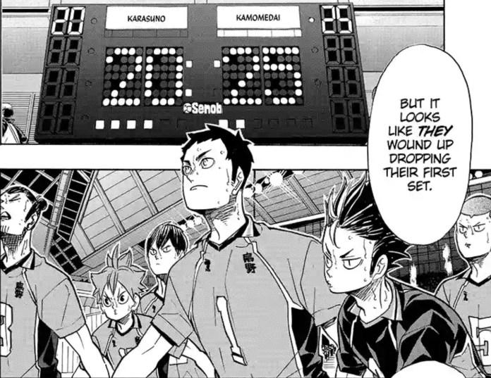 haikyuu manga karasuno kamomedai secondo set