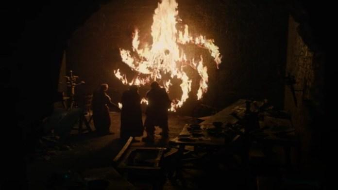 Il messaggio lasciato dal Re della Notte - La morte di Lord Umber  (Credits: HBO) - recap 8x01