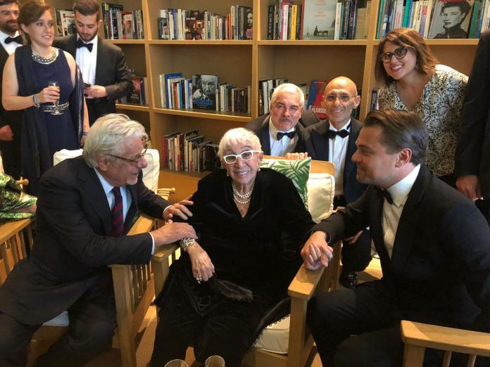 Leonardo DiCaprio e Lina Wertmuller Cannes 2019