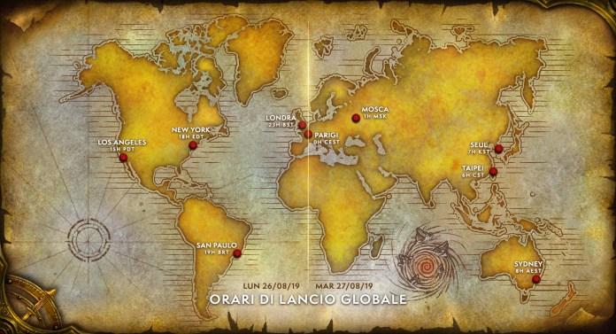 World of Warcraft Classic, WoW, Blizzard, Date, orari, release, MMORPG, data