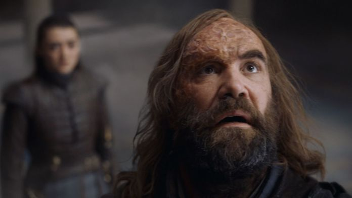 Il Mastino, Sandor Clegane, in Game of Thrones 8x05 (Credits: HBO)