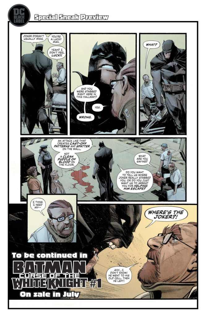 batman: curse of the white Knight anteprima dc comics black label