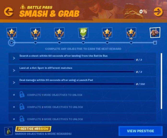 Fortnite Epic Games Week 4 Stagione 10 Smash & Grab