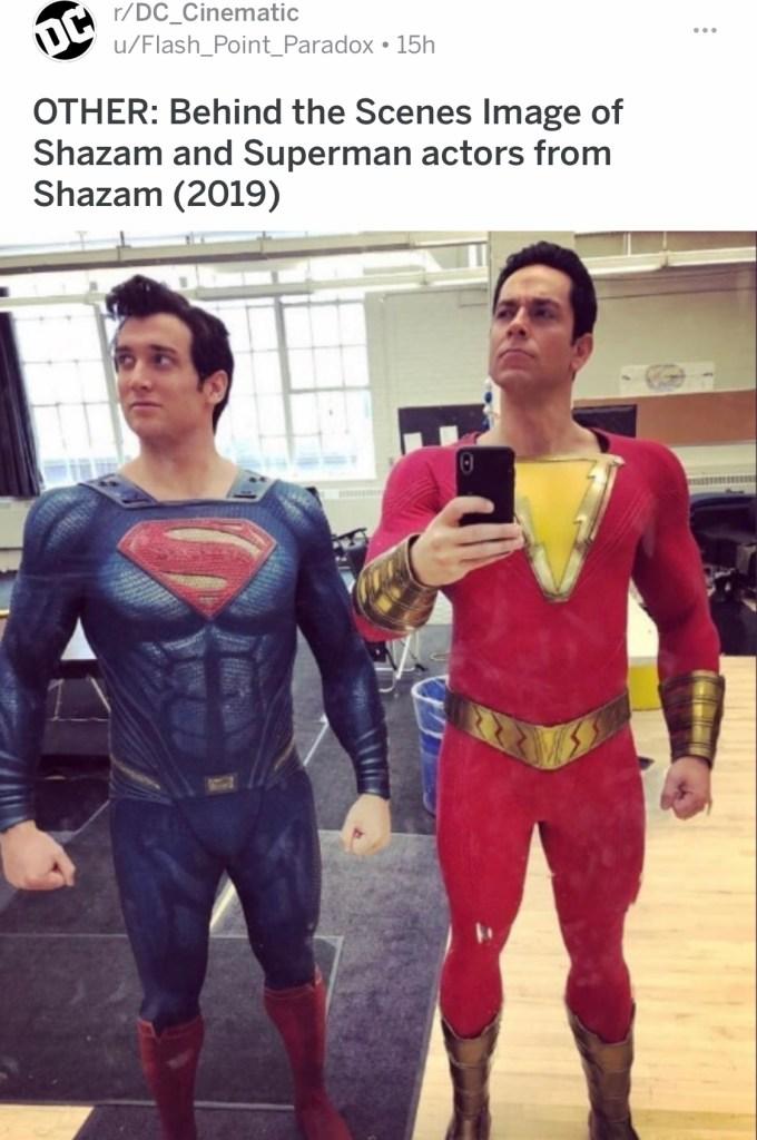 Shazam Zachary Levi Superman Black Adam The rock