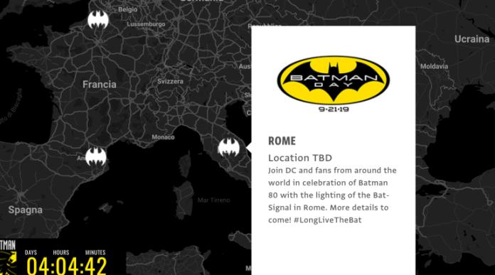 Batman day bat-segnale roma Dc comics