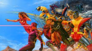 La variant cover di Russell Dauterman per X-Men #1 riunisce tutte le versioni di Jean Grey