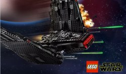 LEGO Star Wars Shuttle di Kylo Ren 75256,la nuova versione dell'astronave tratta da Star Wars: L'ascesa di Skywalker