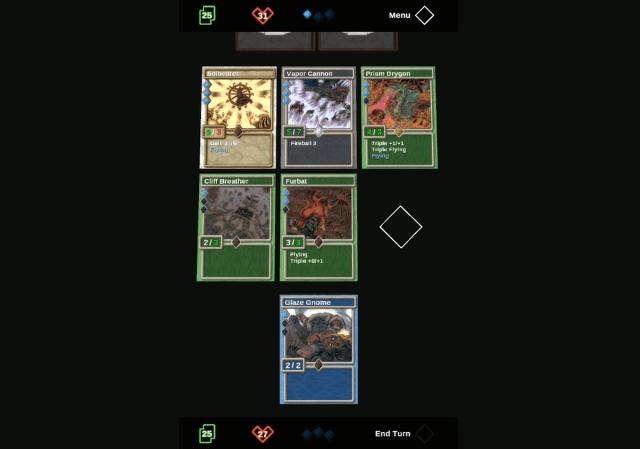 la schermata di gioco di Triplicity