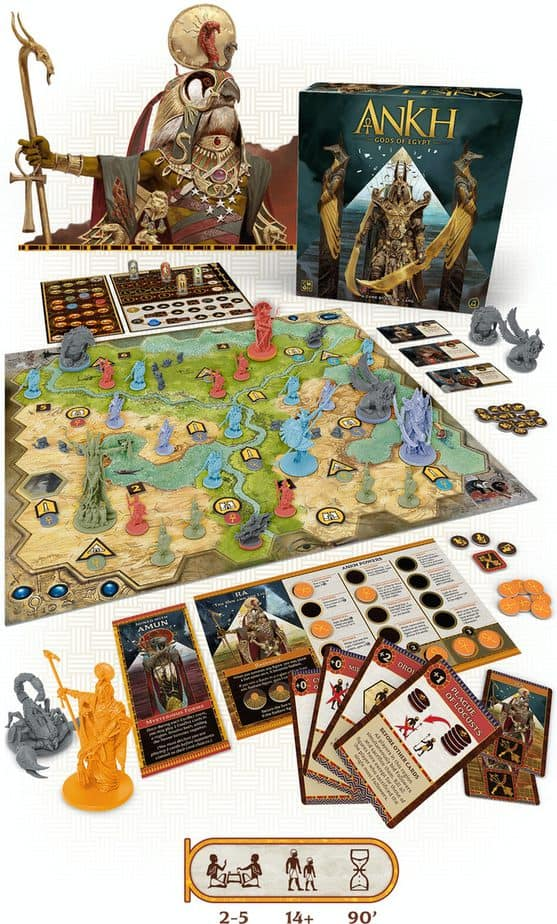 Ankh: Gods of Egypt - Affrettatevi, ultimi giorni su Kickstarter Giochi da Tavolo Nerd&Geek News