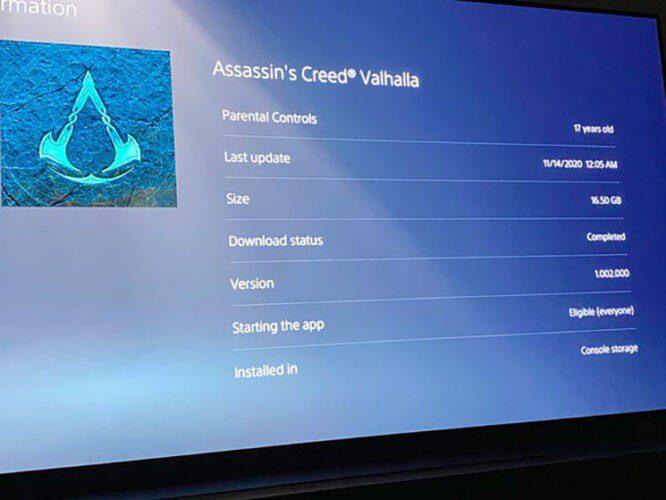 Svelato il peso di Assassin's Creed Valhalla su PS5 News PS5 Videogames