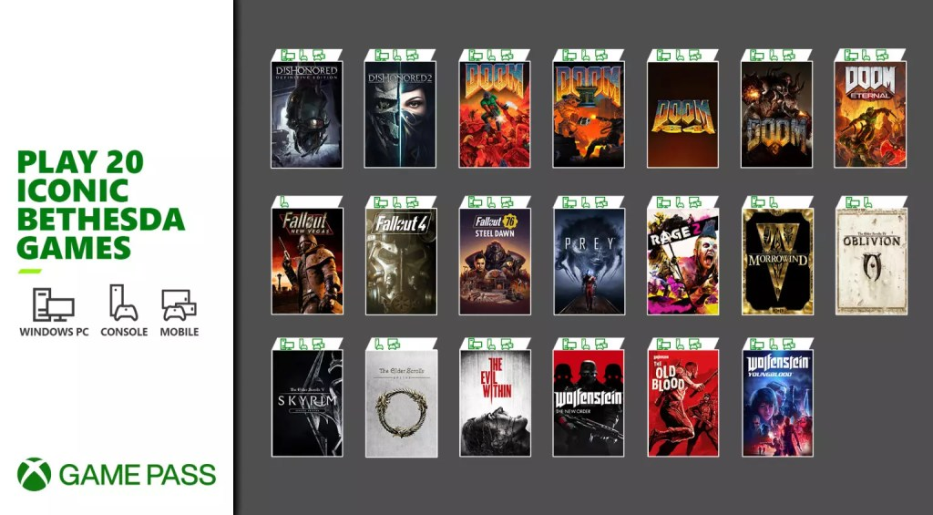 Xbox Game Pass dà il benvenuto a 20 tra i titoli più iconici di Bethesda Comunicati Stampa Videogames XBOX ONE XBOX SERIES S XBOX SERIES X