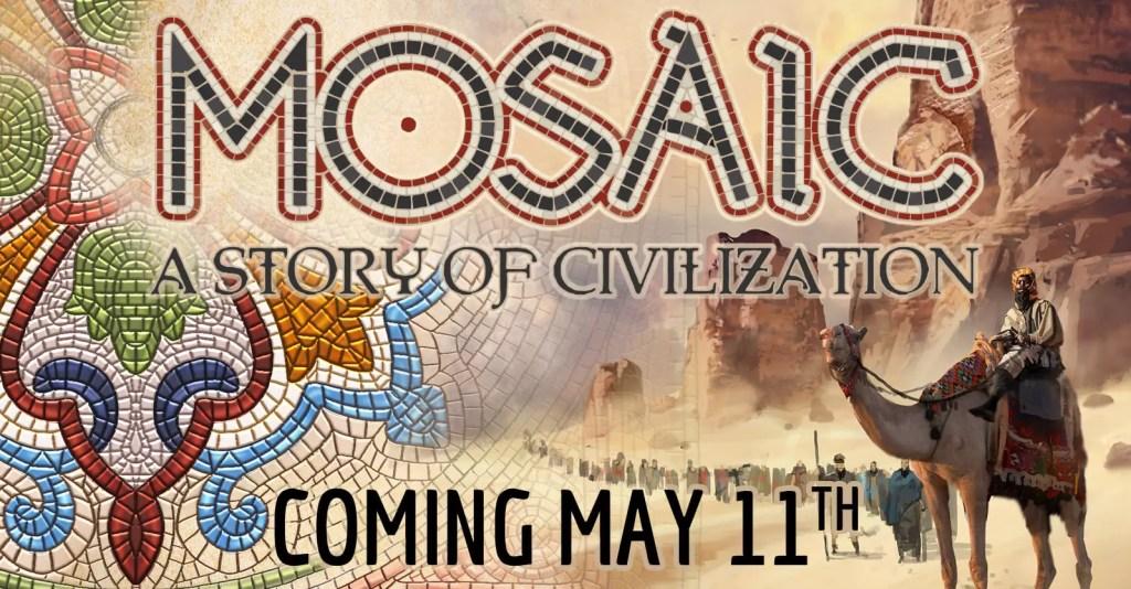 Pendragon annuncia Mosaic - Una Storia di Civilizzazione Comunicati Stampa Giochi da Tavolo