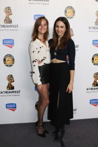 Troian Bellisario and Bailey Noble at the Screamfest premiere of Martyrs
