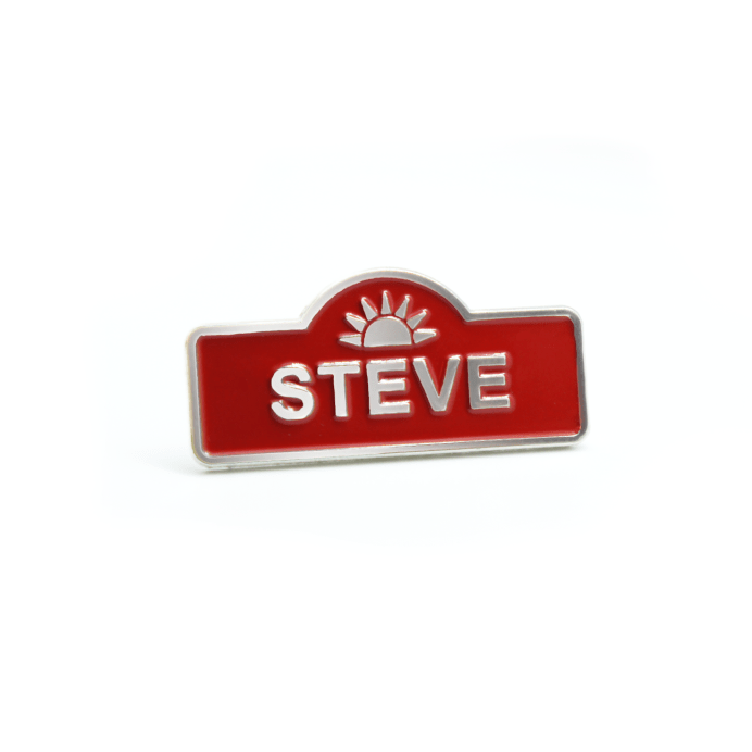 'Steve' pin. Image courtesy of Stands