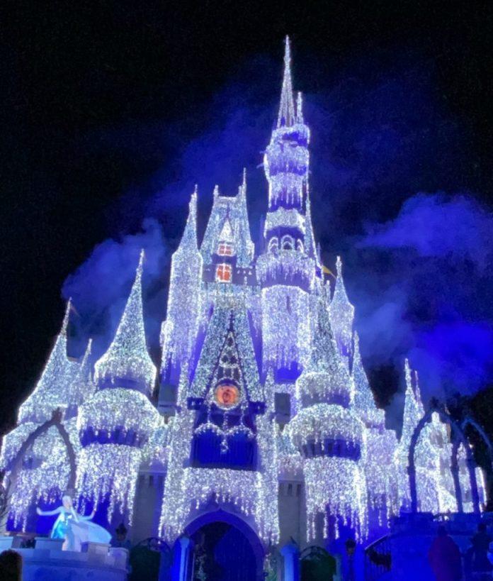 Cinderella Castle in Holiday Lights