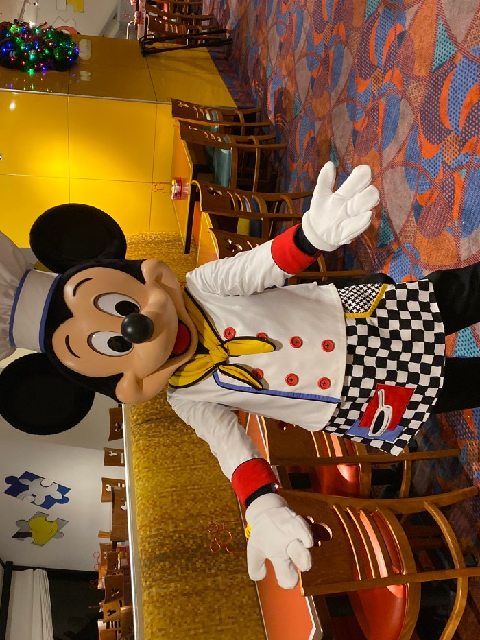 Mickey Mouse at Chef Mickeys at the Contemporary Resort