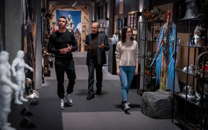 Rob McElhenney, F. Murray Abraham and Charlotte Nicdao in Mythic Quest