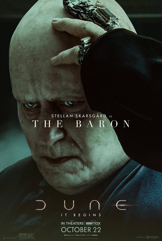 Dune character poster featuring Stellan Skarsgård as The Baron