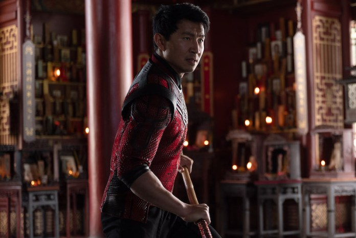 simu liu as shang-chi in shang-chi and the legend of the ten rings