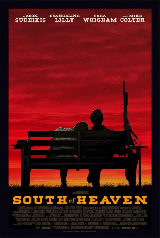 Poster for South of Heaven starring Jason Sudeikis and Evangeline Lilly