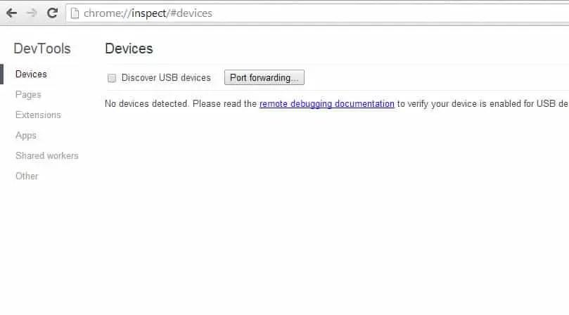 Mobile Remote Web-Debugging mit Chrome und Android
