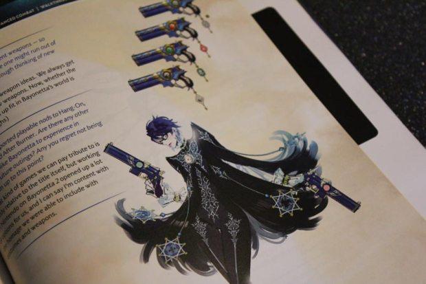 Im Bayonetta 2 Official Prima Guide findet man auch ein Entwickler-Interview mit einigen Skizzen