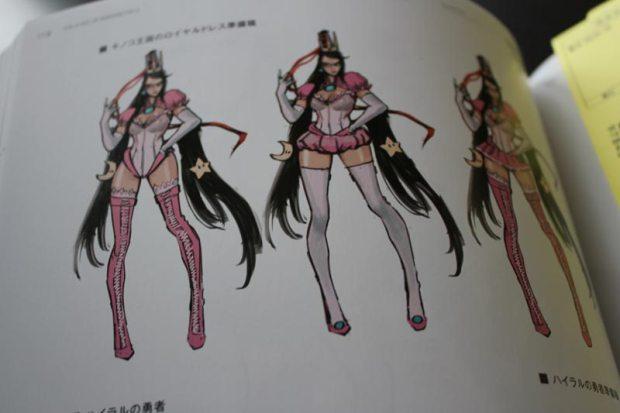 Bayonetta im Prinzessin Peach Kostüm