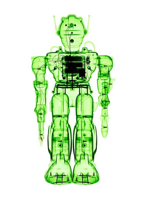 Lumas Art Now BRENDAN FITZPATRICK X-ray of a Toy Robot - Zadak