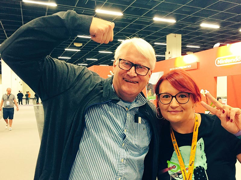 Meeting Charles Martinet at Gamescom