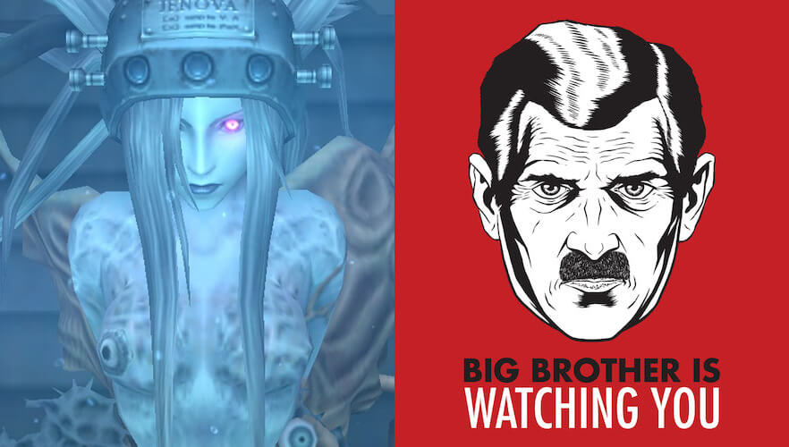 Final Fantasy VII Jenova and 1984 Big Brother