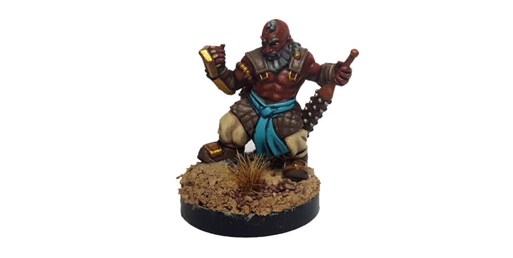 Dwarf monk figurine shapeways mistwalker foundry