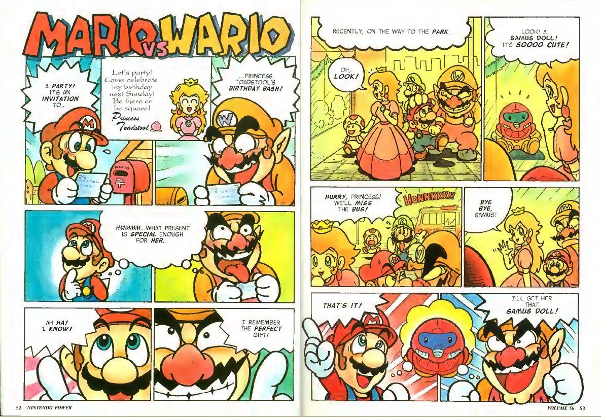 Mario vs Wario Nintendo Power Comic Issue 56 January 1994